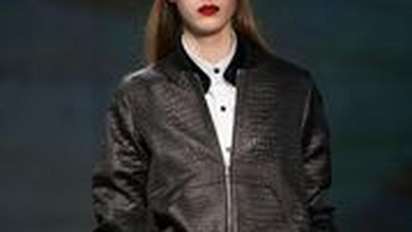 Fashion Week: Leder-Blouson von Kenneth Cole, Herbst 2013