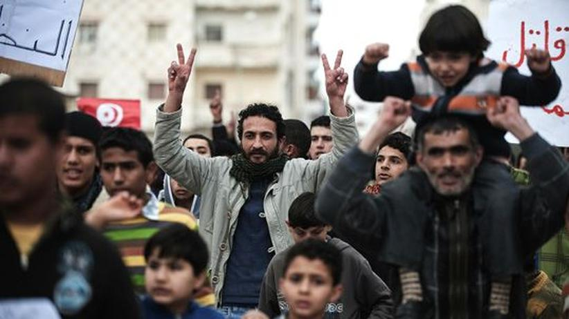 Demonstranten in der libyschen Stadt Derna