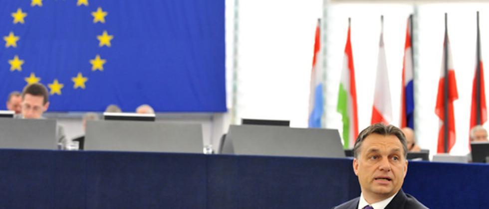 Ungarns Ministerpräsident Viktor Orban im EU-Parlament in Straßburg