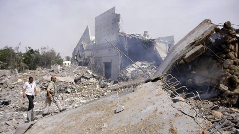 Zerstörte Gebäude im libyschen Tripolis