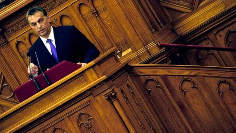 Ungarn: Ungarns Premierminister Viktor Orbán bei einer Parlamentssitzung