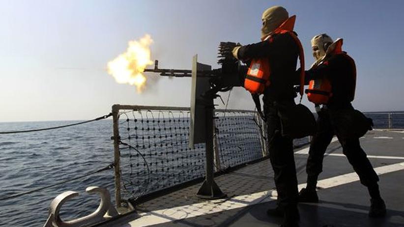 Golf-Krise: Die iranische Marine bei einem Manöver in der Straße von Hormus