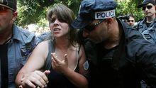 In Tel Aviv treffen Protestierer auf Polizeikräfte (Bild vom 22. Juni 2012)