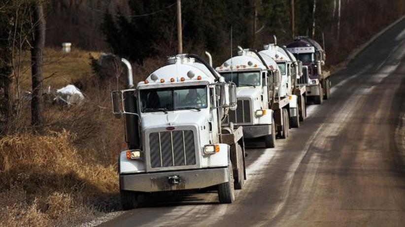 Machtpolitik: Schiefergas, zukünftiger Wachstumsmotor der USA (im Bild ein Gas-Tanklaster in Springville, Pennsylvania)