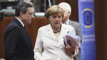 Mario Draghi  Angela Merkel
