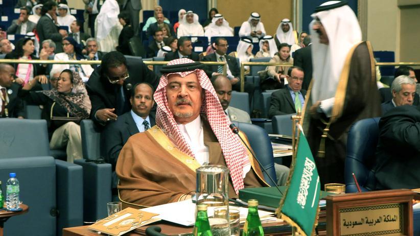 Der Außenminister von Saudi-Arabien, Prinz Saud ibn Feisal