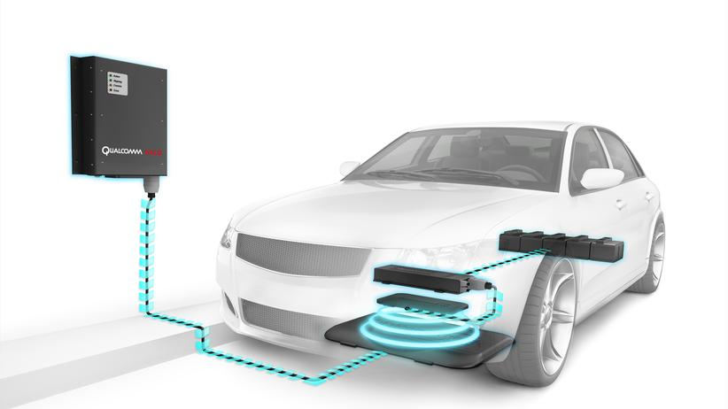 Technologie zum kabellosen Aufladen eines Elektroautos von Qualcomm