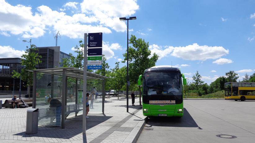 Fernbus-Station am Berliner Bahnhof Südkreuz