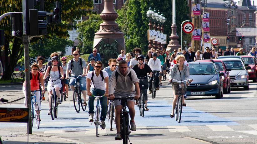 Radfahrer in Kopenhagen