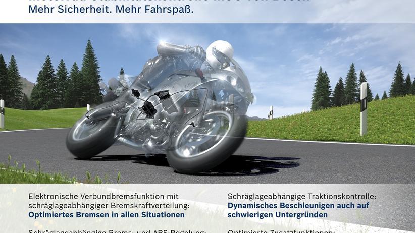 Motorrad: Stabilitätskontrolle von Bosch