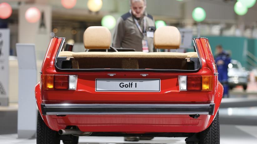 VW: Ein VW Golf I auf einer Ausstellung im März in Essen