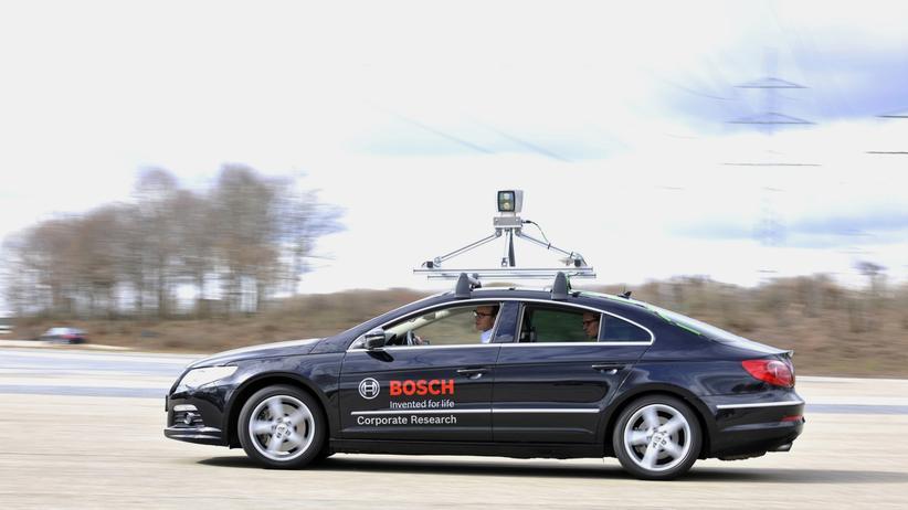 Testfahrzeug von Bosch