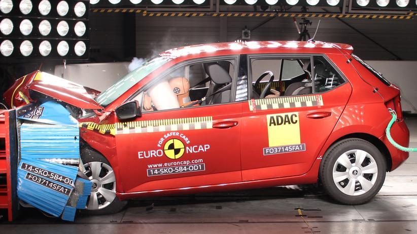 Škoda Fabia im Crashtest von Euro NCAP