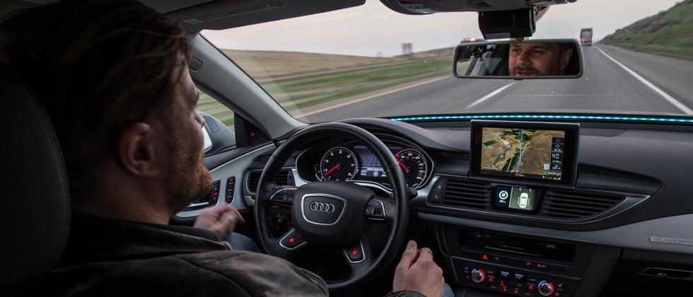 Audi fuhr mit einem umgebauten A7 von Kalifornien nach Las Vegas zur Elektronikmesse CES.