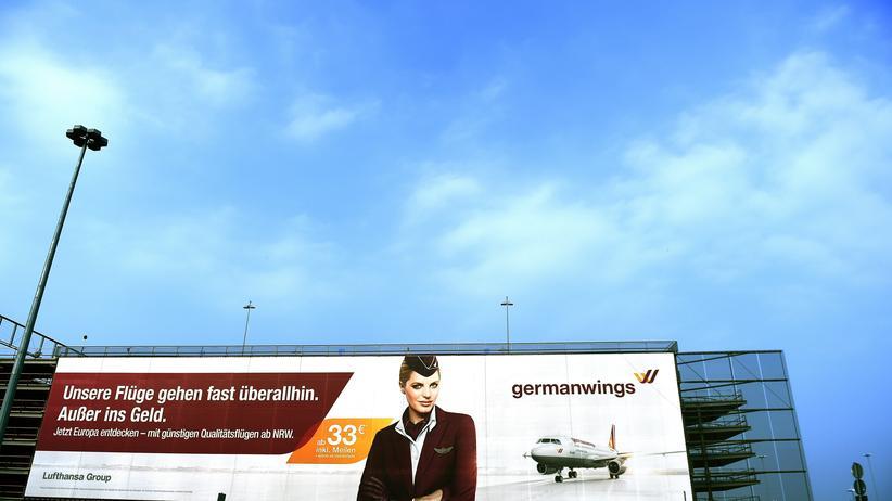 Werbung für Germanwings in Köln