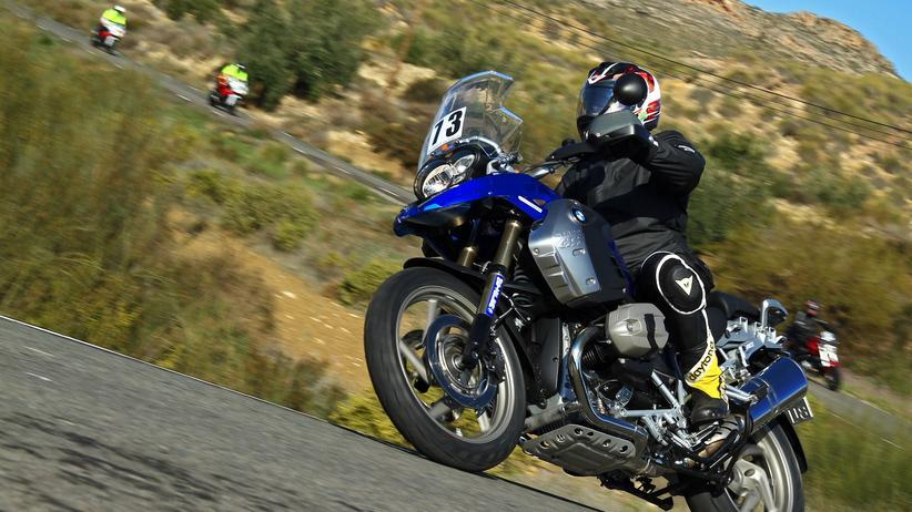Motorradfahrer in Spanien