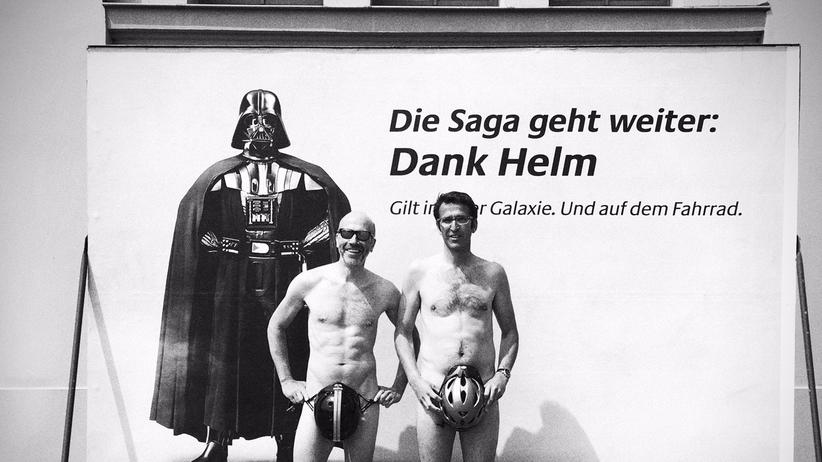 Fahrradhelm: Viel Spott für Helm-Kampagne mit Darth Vader
