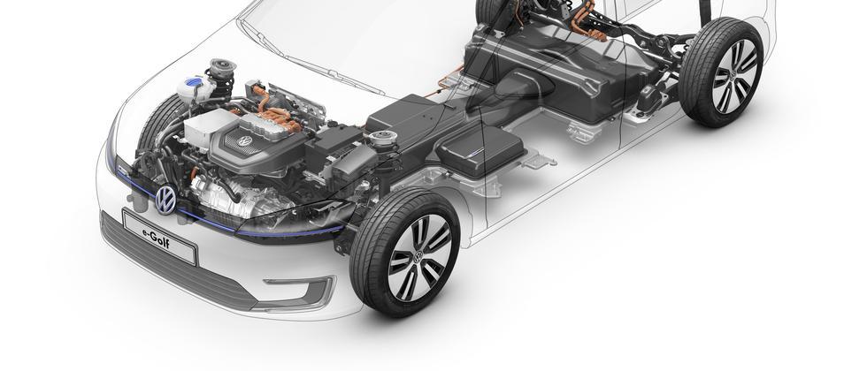Einblick in die Antriebstechnik des Elektro-Golf von VW