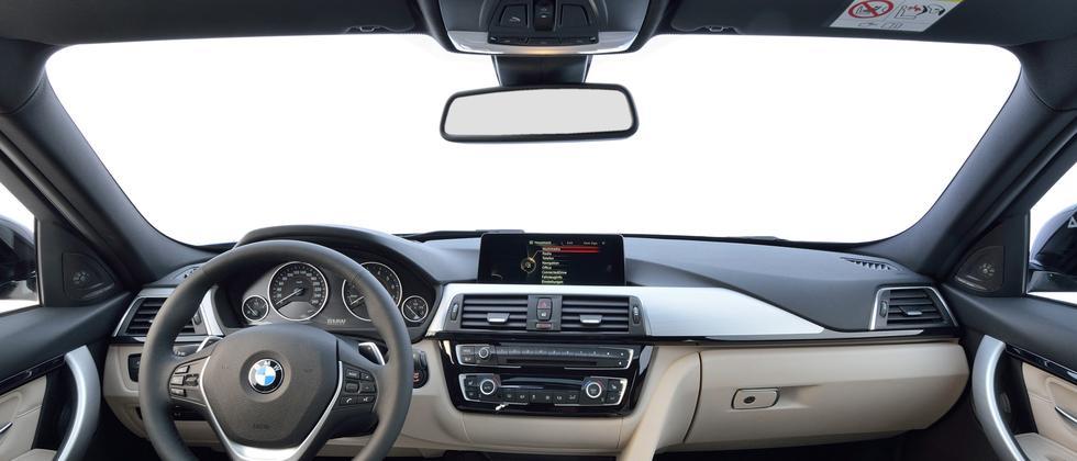 Sicht aus einem BMW 3er