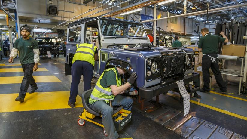 Fertigung des Land Rover Defender