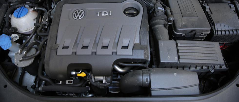 Dieselmotor in einem Volkswagen Passat