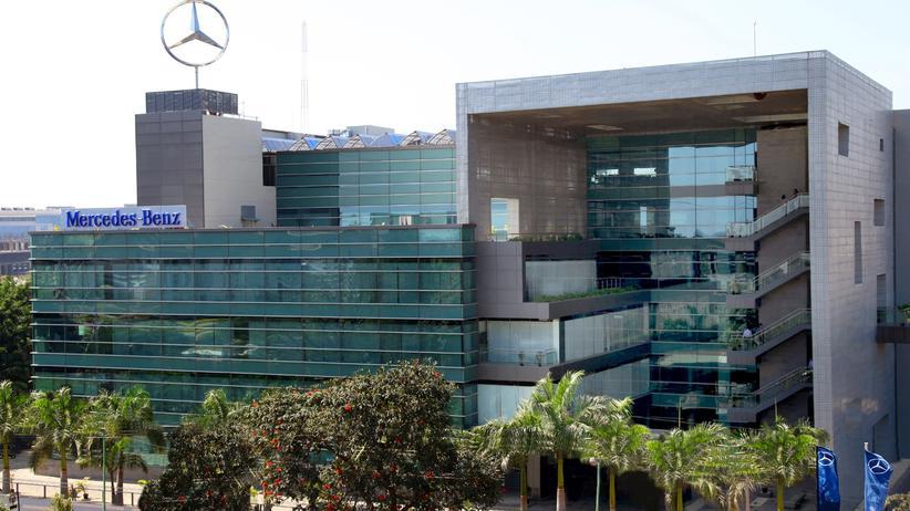 Das Forschungs- und Entwicklungszentrum von Mercedes-Benz in Bangalore
