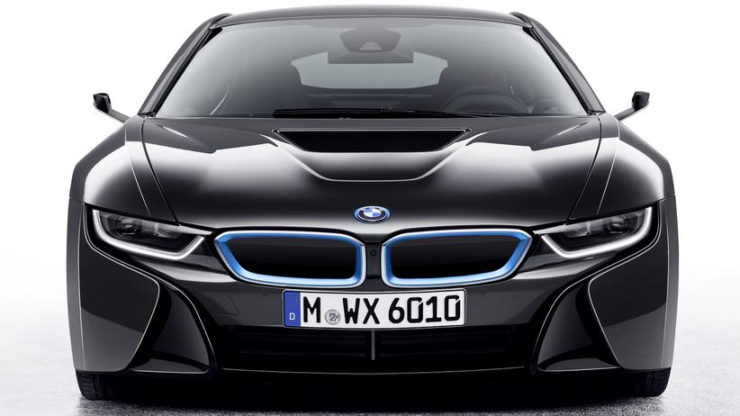 CES: Statt Außenspiegeln hat der BMW-Prototyp nur noch kleine Ärmchen, in denen Kameras stecken.