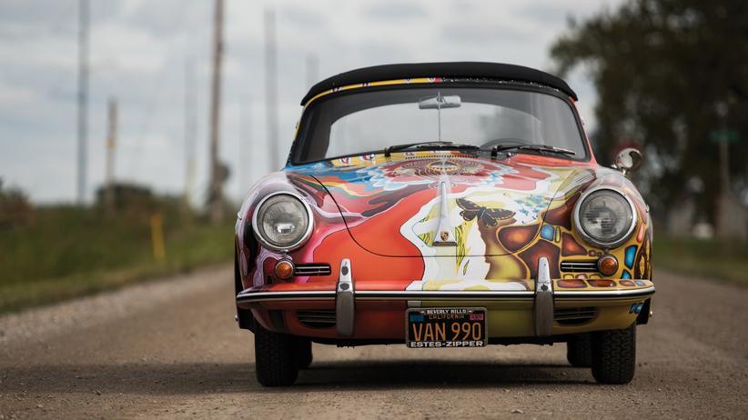 Der bunte Porsche 356 SC gehörte mal Janis Joplin.