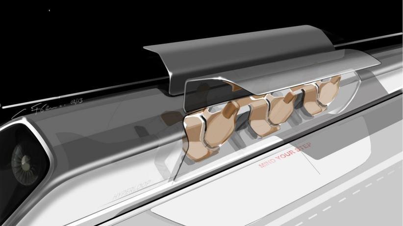 Hyperloop: So stellt sich Musks Unternehmen SpaceX die Transport-Kapsel des Hyperloop vor.