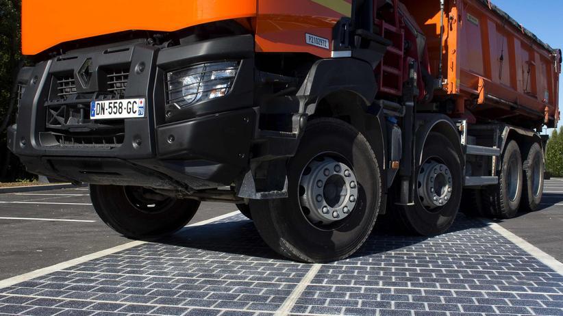 Photovoltaik-Platten Lkw