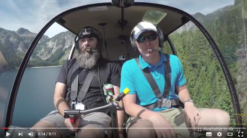 Hubschrauber Helikopter Landung ohne Motor