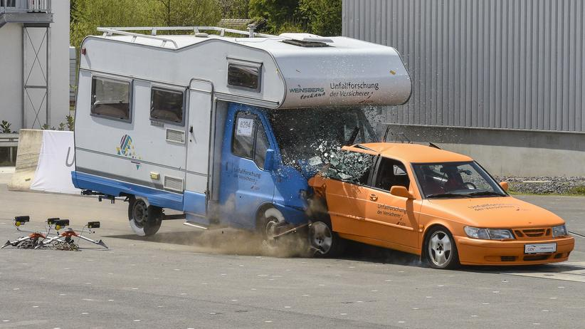 Wohnmobil Unfall