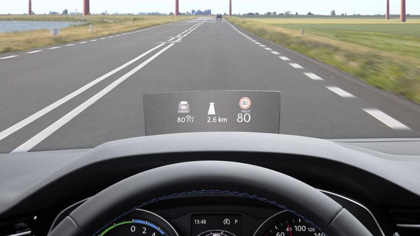 Head-up-Display in einem VW Passat