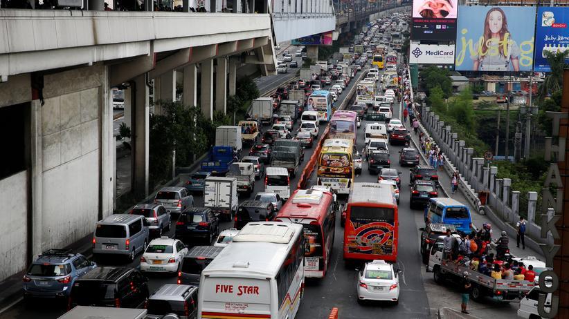 Stau in Manila