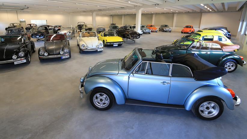 Oldtimer: VW Käfer, frisch aus der Fabrik