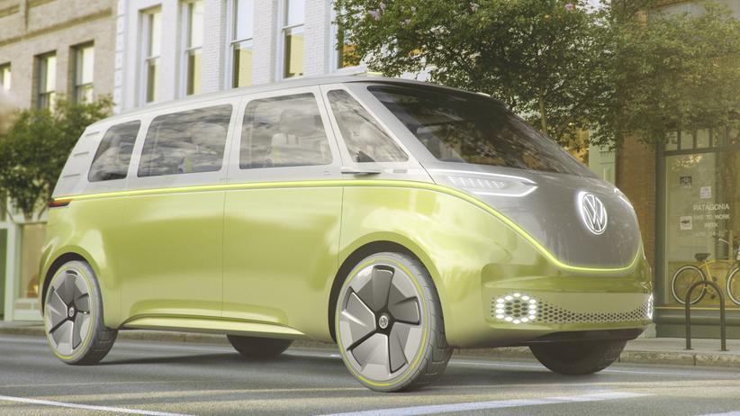 Volkswagen: Volkswagen zeigt die Studie Buzz auf der Automesse in Detroit.