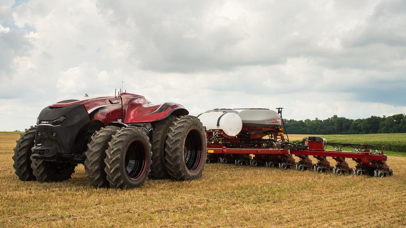 Autonomes Fahren: Der Prototyp eines fahrerlosen Traktors von Case