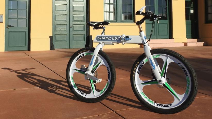 Das Chainless S1 fällt durch den sehr kurzen Radstand ohne Kette auf.