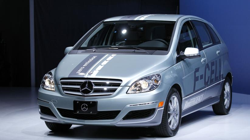 Brennstoffzellenautos: Ein Brennstoffzellenfahrzeug von Mercedes aus dem Jahr 2011