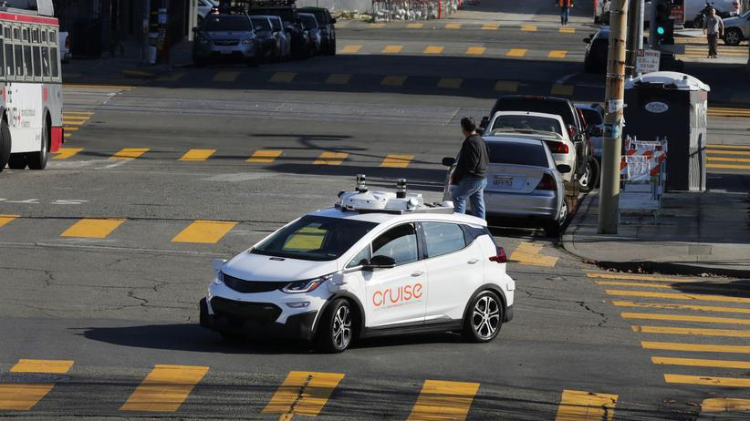 Autonomes Fahren: Ein selbstfahrender Chevy Bolt von General Motors