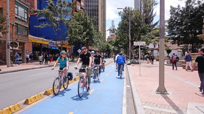Bogotá: Wo es sich auf Radwegen staut
