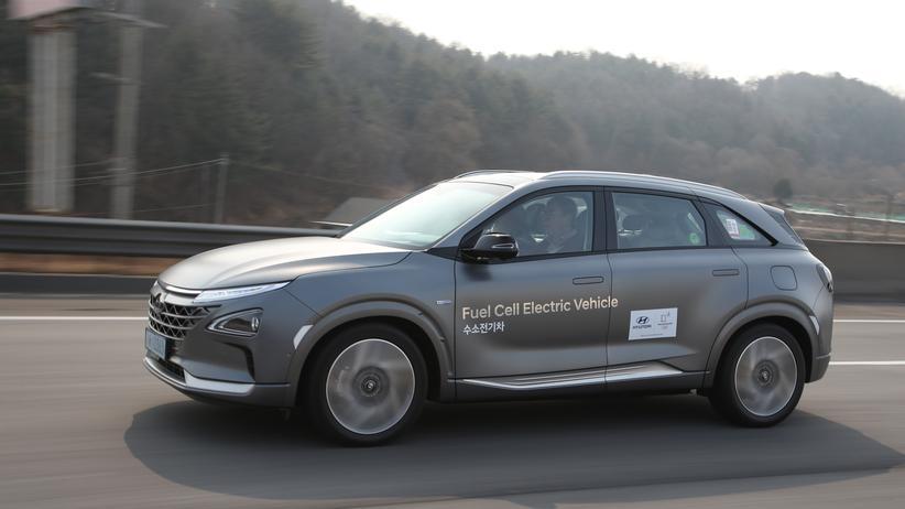 Elektromobilität: Der Hyundai Nexo fährt mit Strom aus einer Brennstoffzelle.