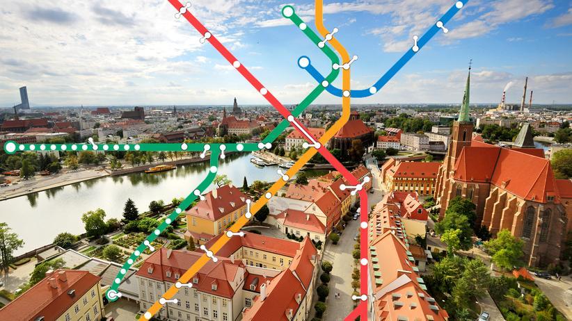 Die Altstadt von Wrocław, im Deutschen: Breslau