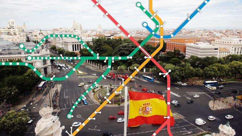 Madrid: Blick vom Rathaus in Madrid