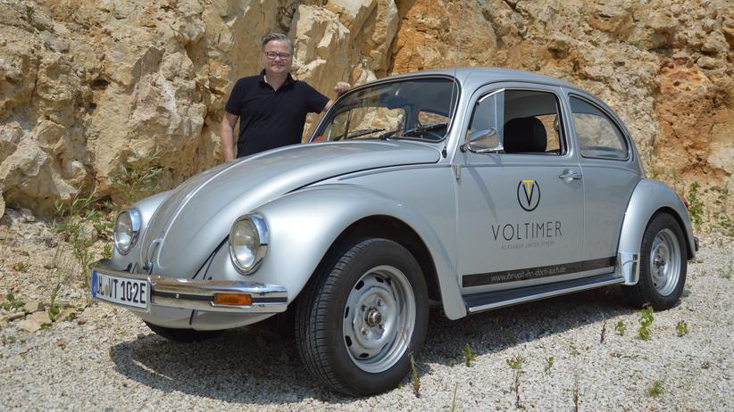Elektroautos: Johannes Boddien hat einen VW Käfer, Baujahr 1982, auf Elektroantrieb umgebaut.