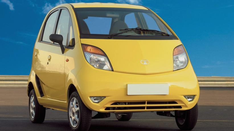 Tata Nano: Der Tata Nano sah 2008 nicht nur schmucklos aus, er war auch technisch schlicht.
