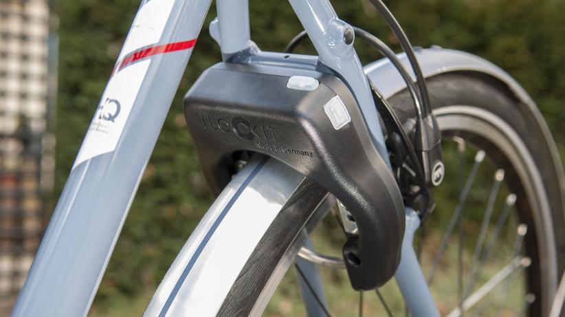 Fahrradschlösser: Auf den ersten Blick sieht das I Lock It wie ein gewöhnliches Rahmenschloss aus, doch im Inneren des schwarzen Kunststoffgehäuses steckt viel Technik.