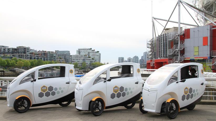 """Podbikes: In Vancouver sind bereits einige Exemplare des """"Veemos"""" genannten Fahrzeugs unterwegs."""