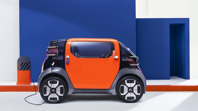 Citroën Ami One: Ein Auto mit symmetrischem Design: Der Ami One von Citroën ist genauso breit wie hoch.