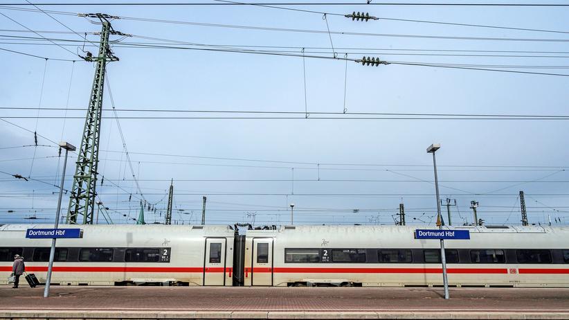 Deutsche Bahn: Ein ICE-Zug im Dortmunder Hauptbahnhof